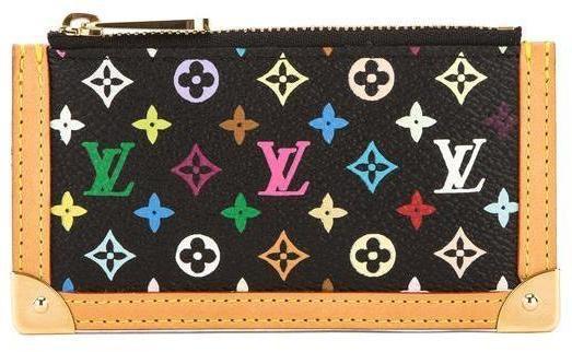 Louis Vuitton Pochette Cles Coin Case Monogram Multicolore/Vanchetta Leather Trim Black/Multicolore