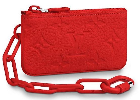 Louis Vuitton Pochette Cle Monogram Red