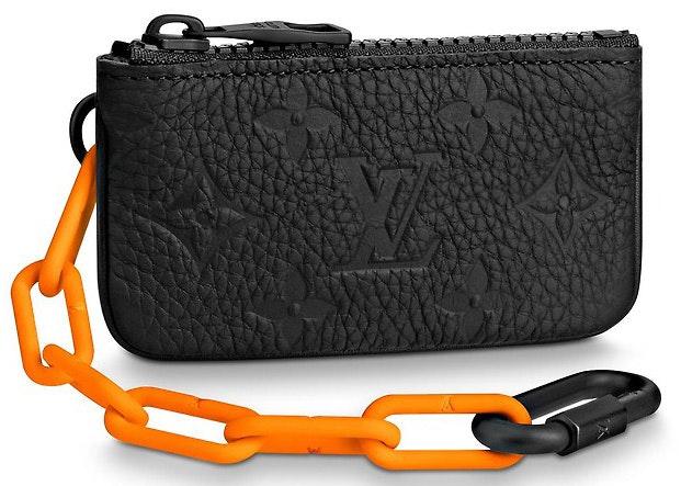 Louis Vuitton Pochette Cles Monogram Orange Black