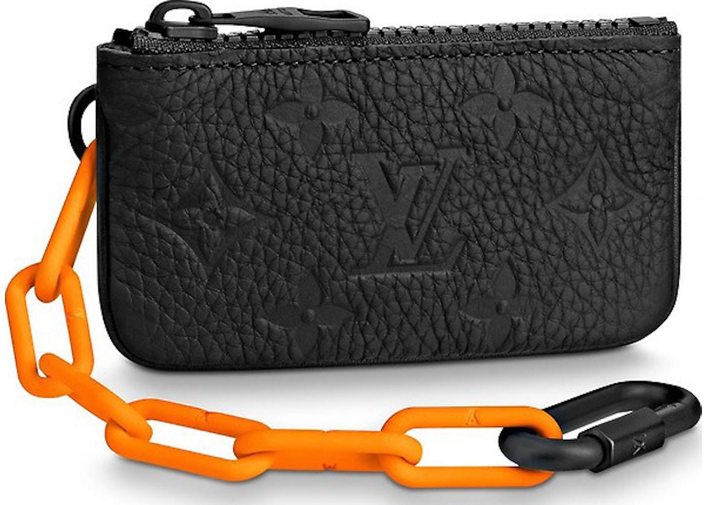 8ddba72e01d6 Louis Vuitton Pochette Cles Monogram Orange Black