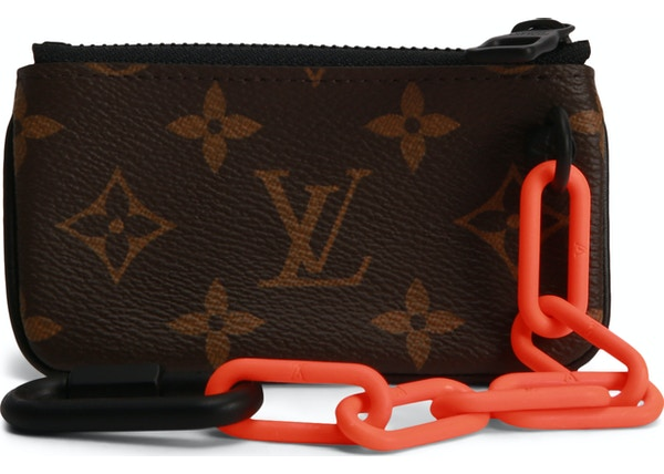 5e66984de5 Louis Vuitton Pochette Cles Monogram Orange Brown