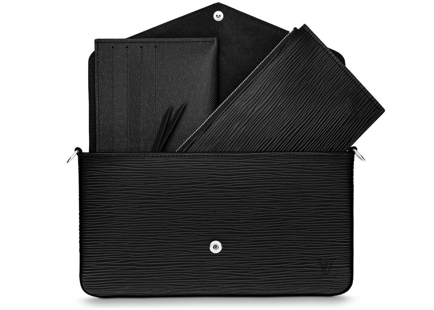 a4024f11ae1b Louis Vuitton Pochette Felicie Epi With Accessories Noir