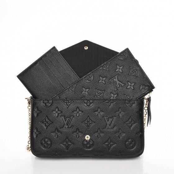 Louis Vuitton Pochette Felicie Monogram Empreinte (With Accessories) Noir