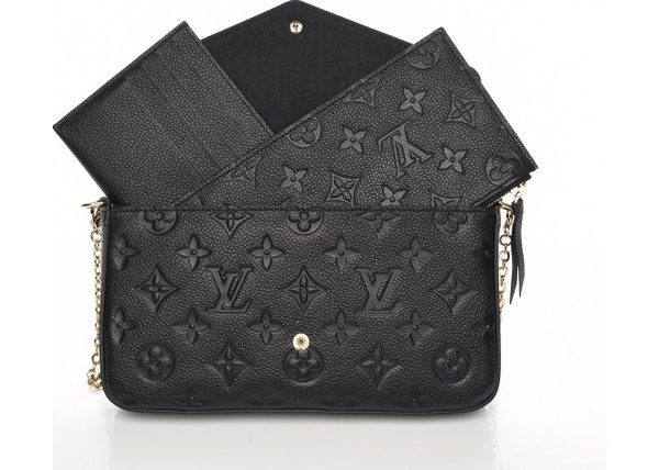 799bb572c010 TOP. Louis Vuitton Pochette Felicie Monogram Empreinte (With Accessories)  Noir