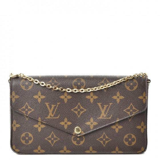 Louis Vuitton Pochette Felicie Monogram Fuchsia