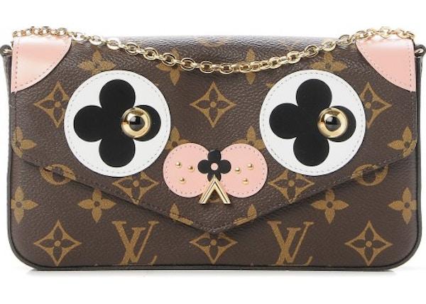 fdcffd201d Louis Vuitton Pochette Felicie Monogram Valentine Dog Rose Ballerine