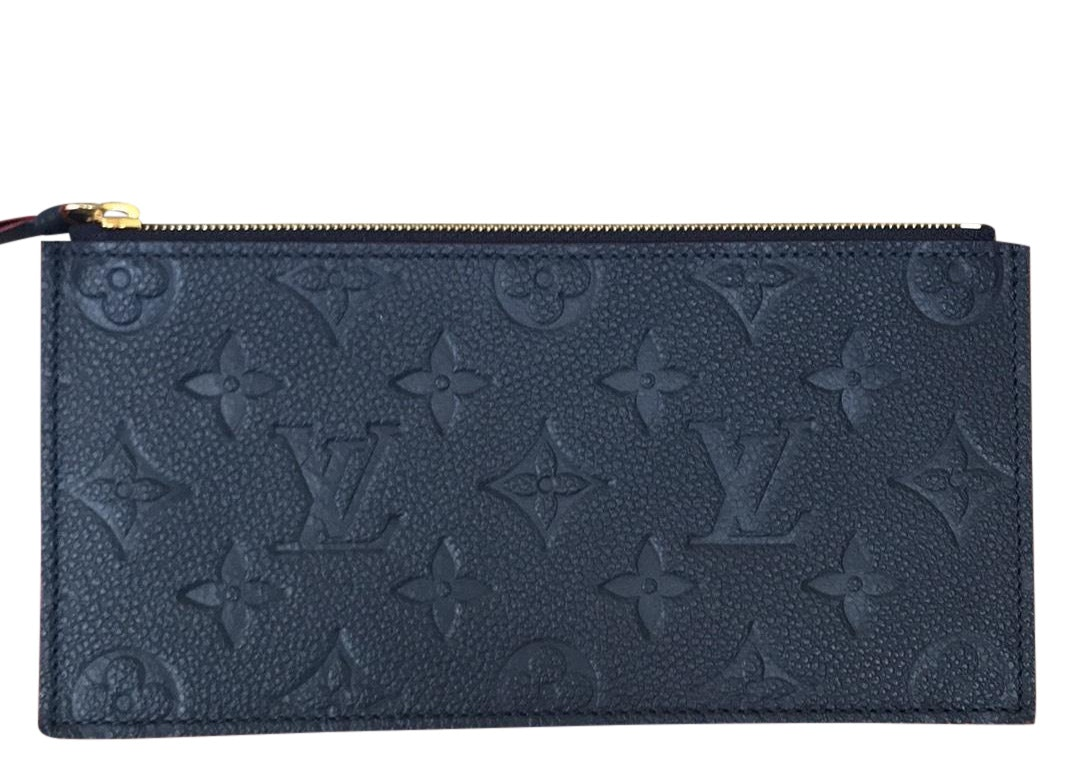 Louis Vuitton Pochette Felicie Zippered Insert Monogram Empreinte Marine Rouge