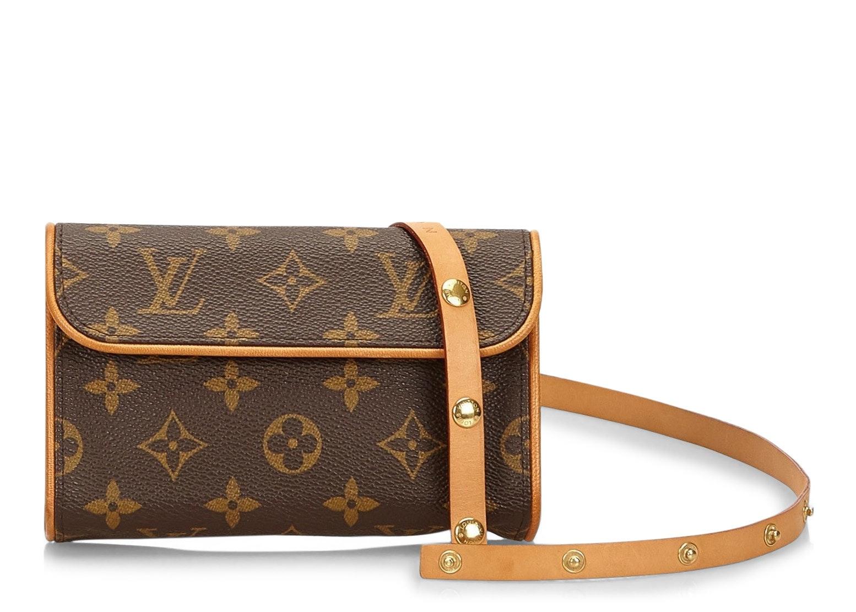 Louis Vuitton Pochette Florentine Monogram (With Snap Leather Belt) Brown