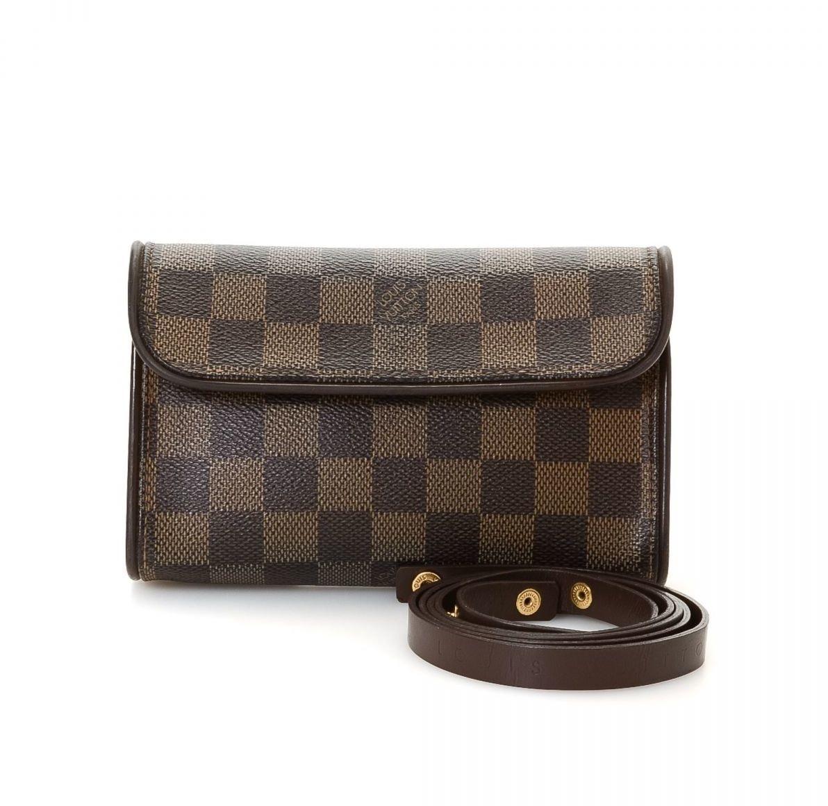 Louis Vuitton Pochette Florentine Damier Ebene Dark Brown