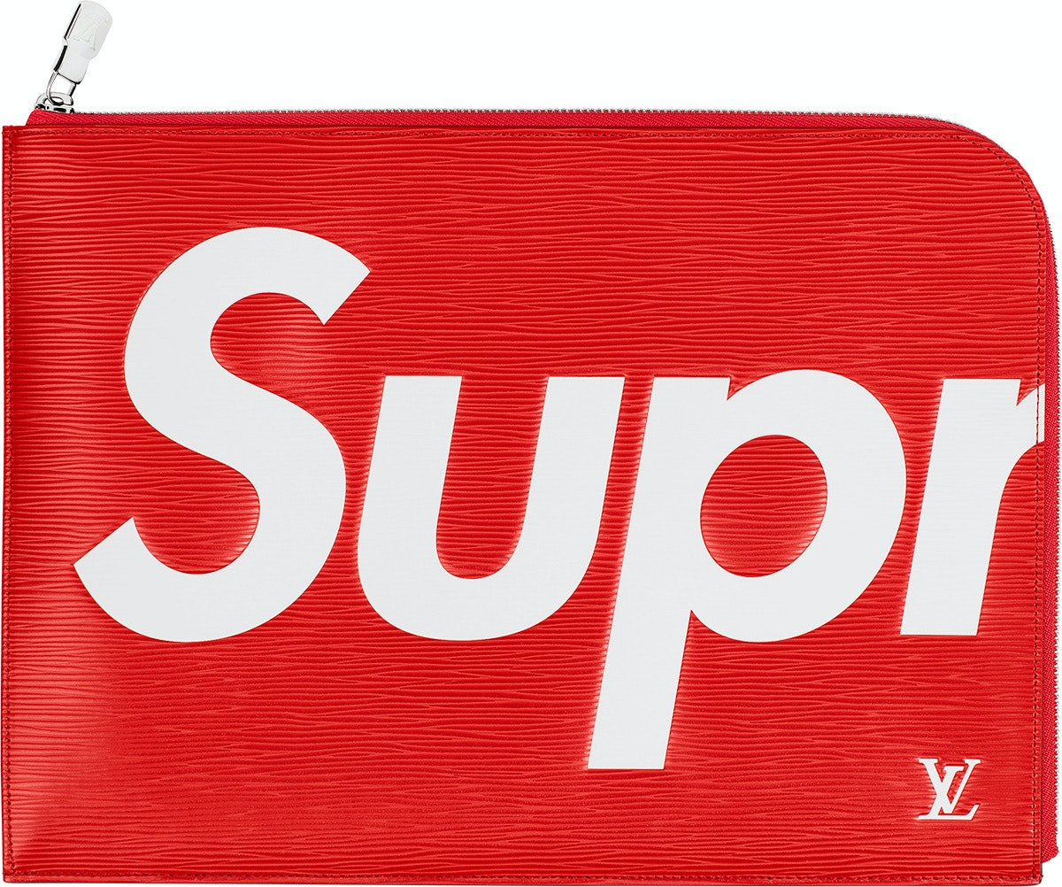 Louis Vuitton x Supreme Pochette Jour Epi GM Red