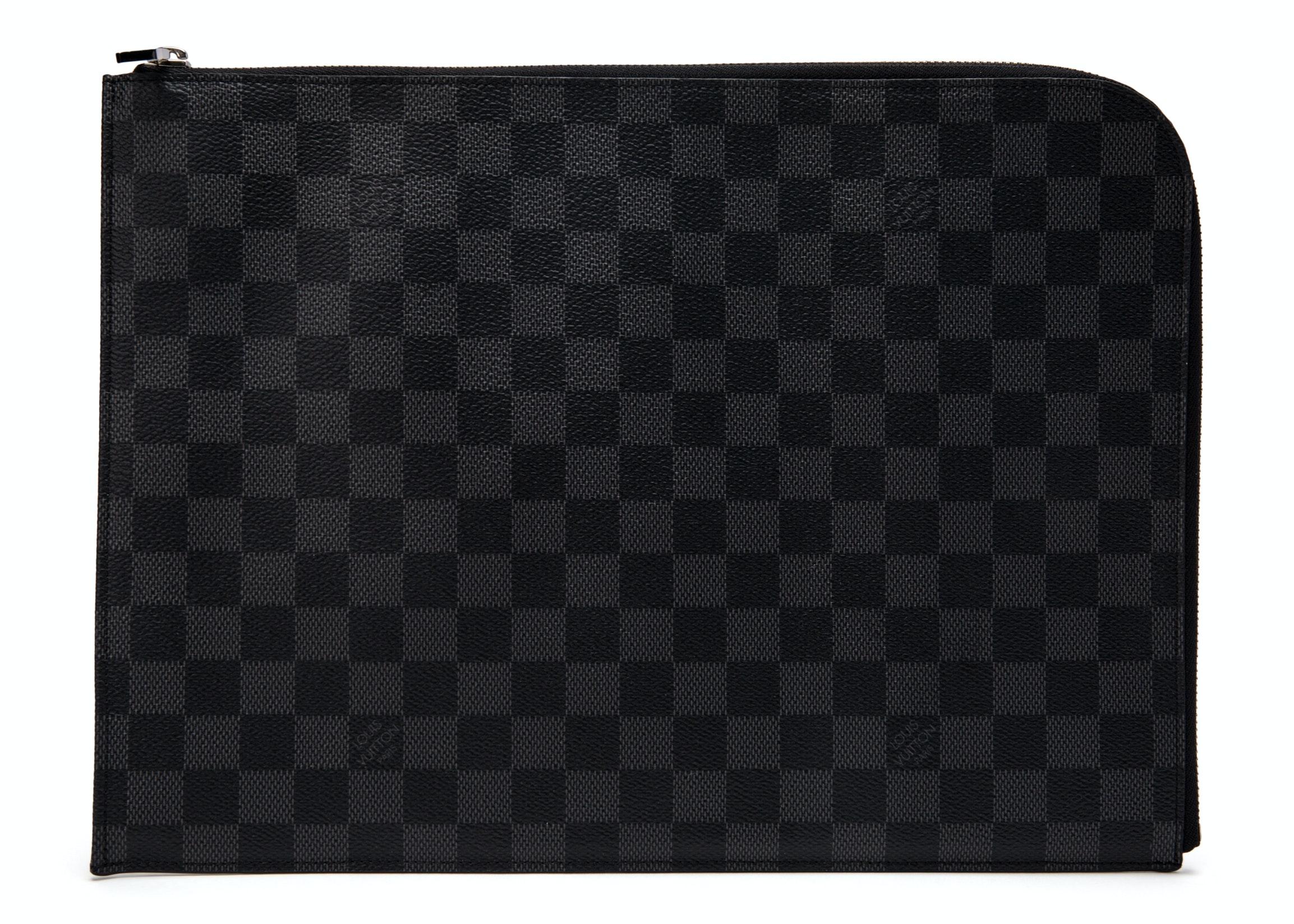 Louis Vuitton Pochette Jour Damier Graphite GM Black
