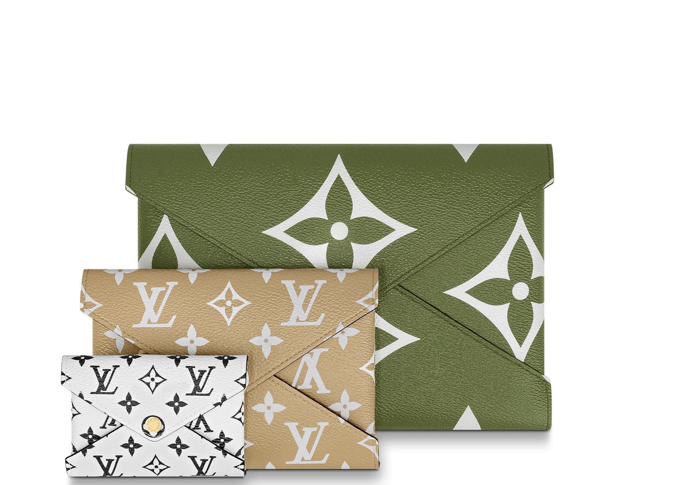 Louis Vuitton Pochette Kirigami Giant Monogram Khaki Green/Beige