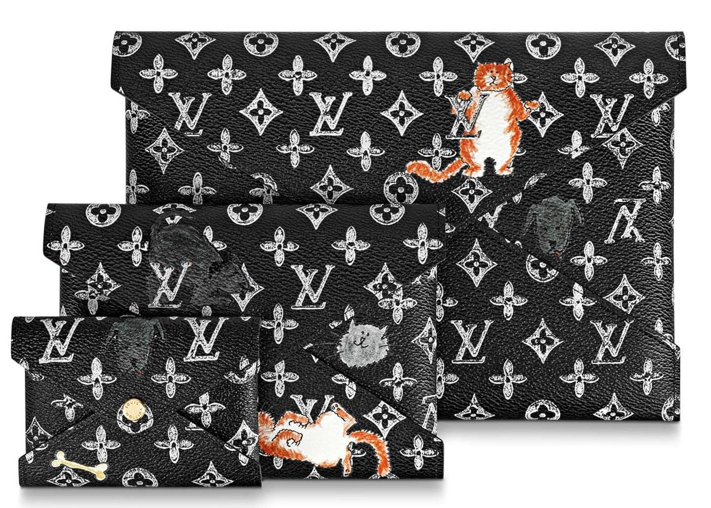 Louis Vuitton Pochette Kirigami Monogram Catogram Black/White