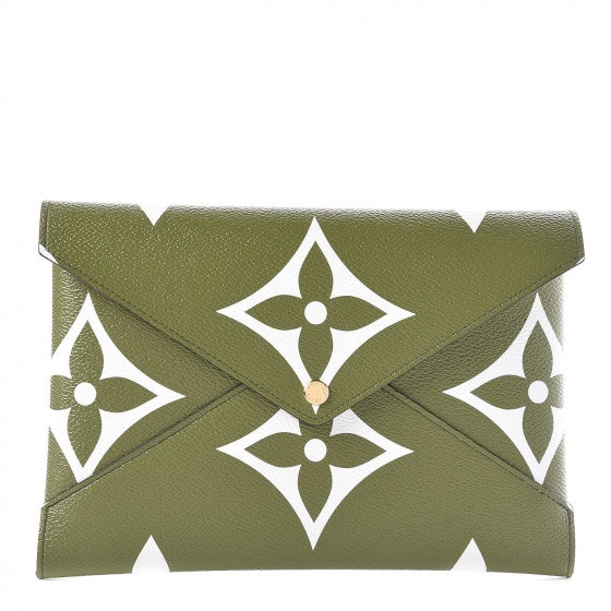 Louis Vuitton Pochette Kirigami Monogram Giant Large Khaki Green