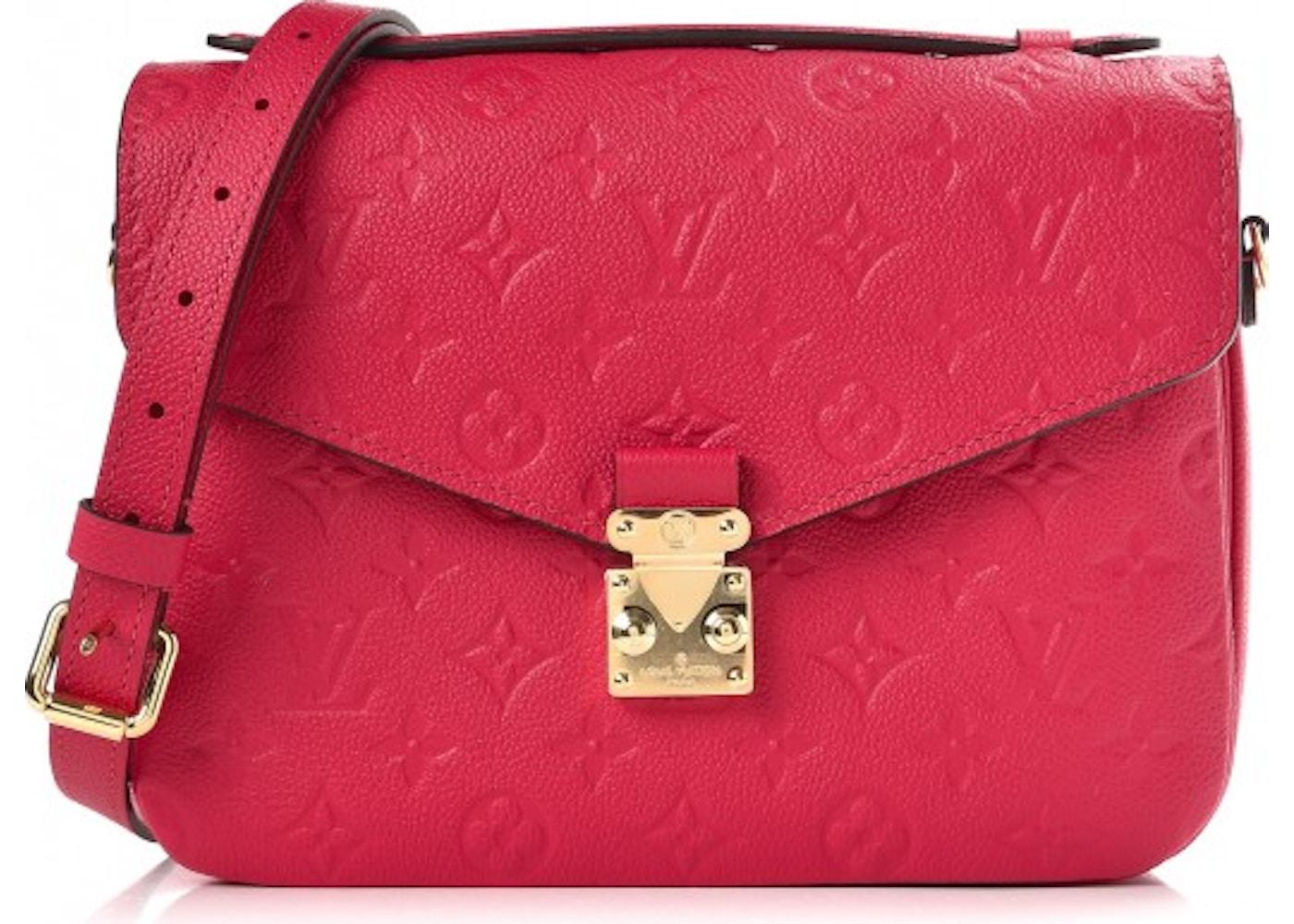 4e3d20b1f1f3 Louis Vuitton Pochette Metis Monogram Empreinte Freesia. Monogram Empreinte  Freesia