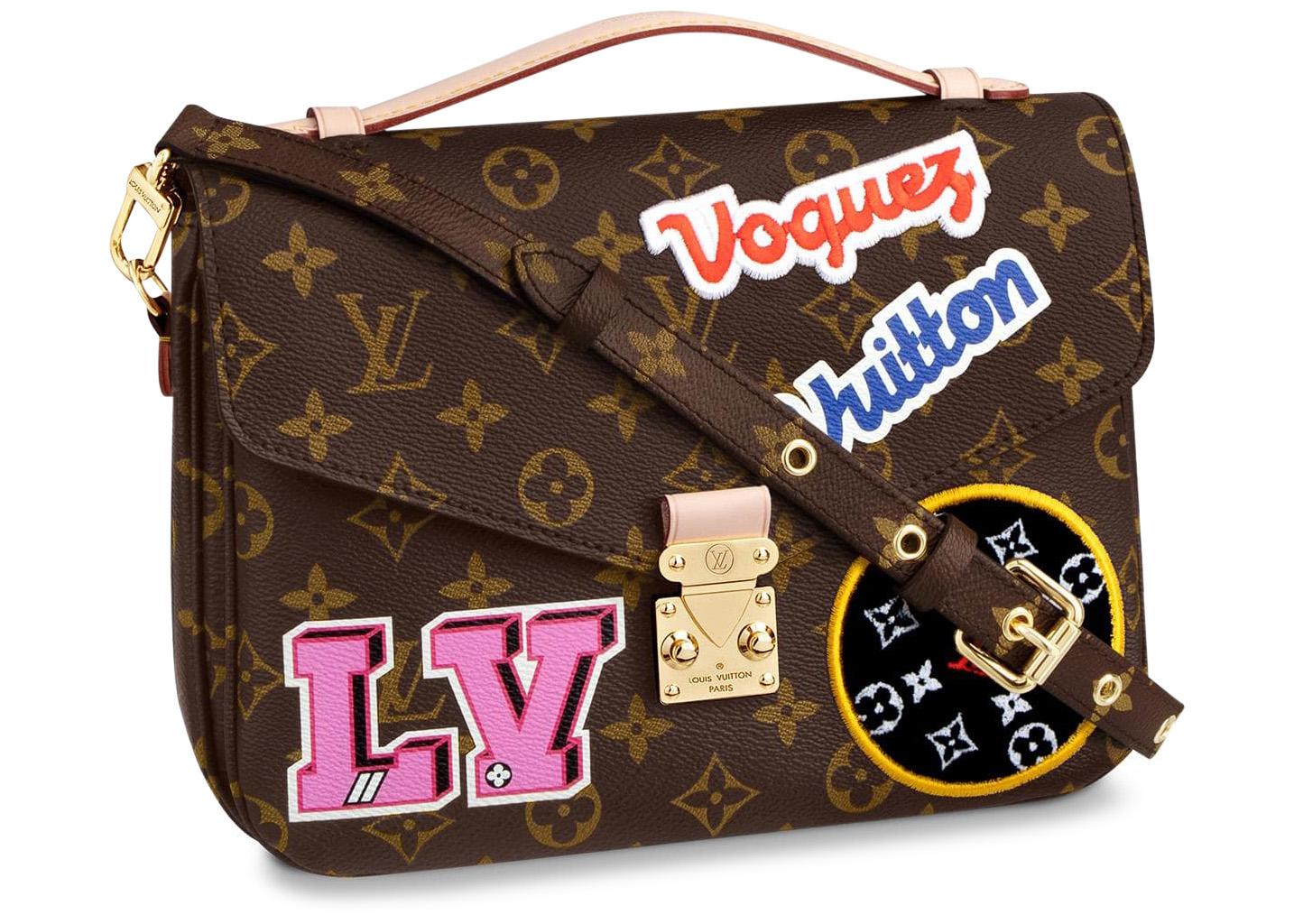 Louis Vuitton Pochette Metis Monogram Patches Brown Multicolor
