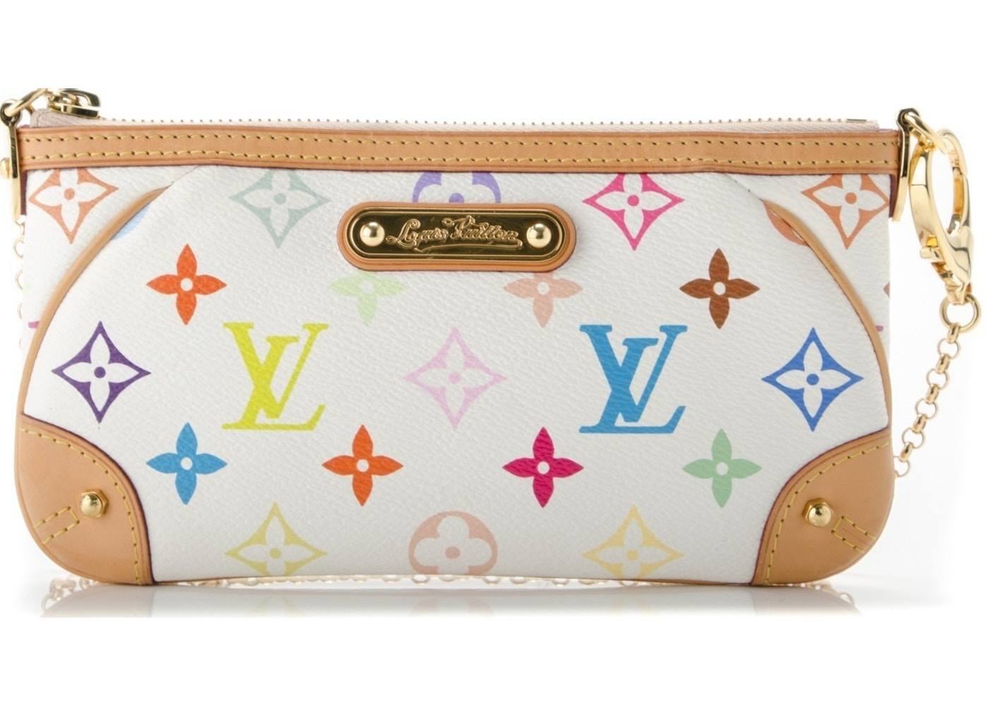 Sell. or Ask. View All Bids. Louis Vuitton Pochette Milla Monogram  Multicolore MM White 60e51cd7752c3