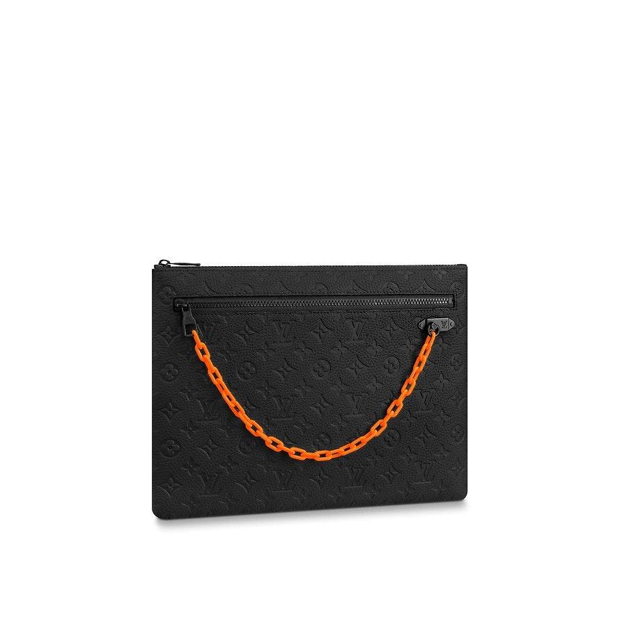 Louis Vuitton A4 Pouch Monogram Absolute Black