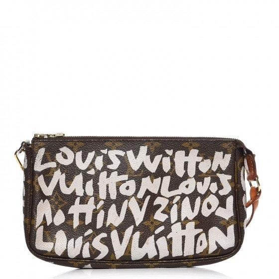 Louis Vuitton Pochette Monogram Graffiti Brown