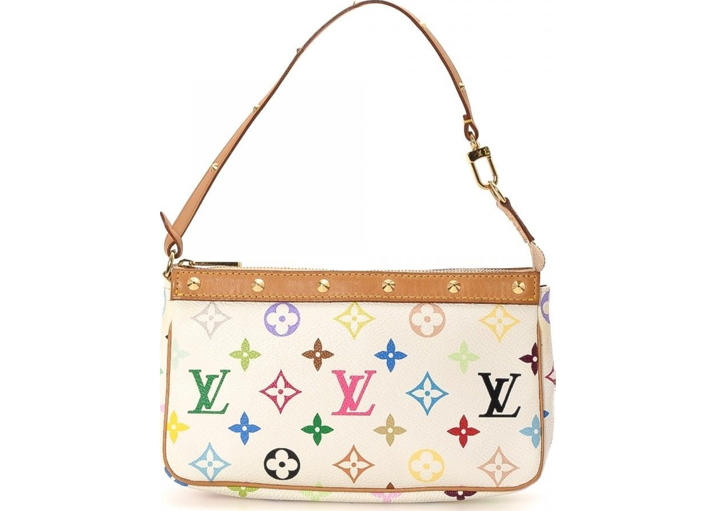 585ad370f31b Sell. or Ask. View All Bids. Louis Vuitton Pochette Monogram Multicolore  White
