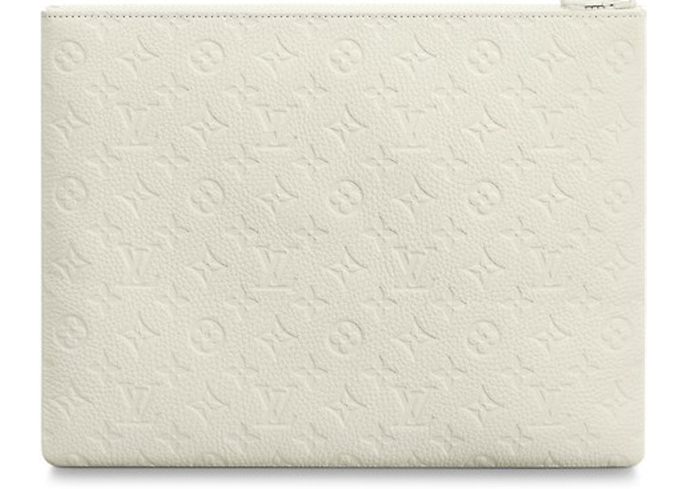 75bb95f43e1d Louis Vuitton A4 Pouch Monogram White
