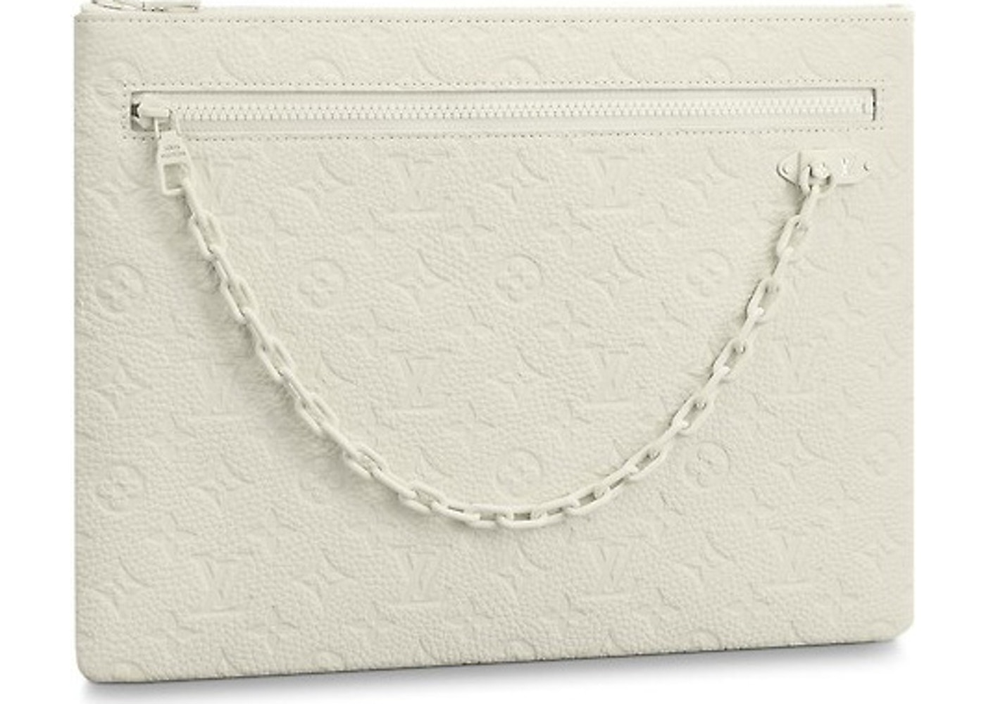 48fb74df0670 Louis Vuitton A4 Pouch Monogram White. Monogram White