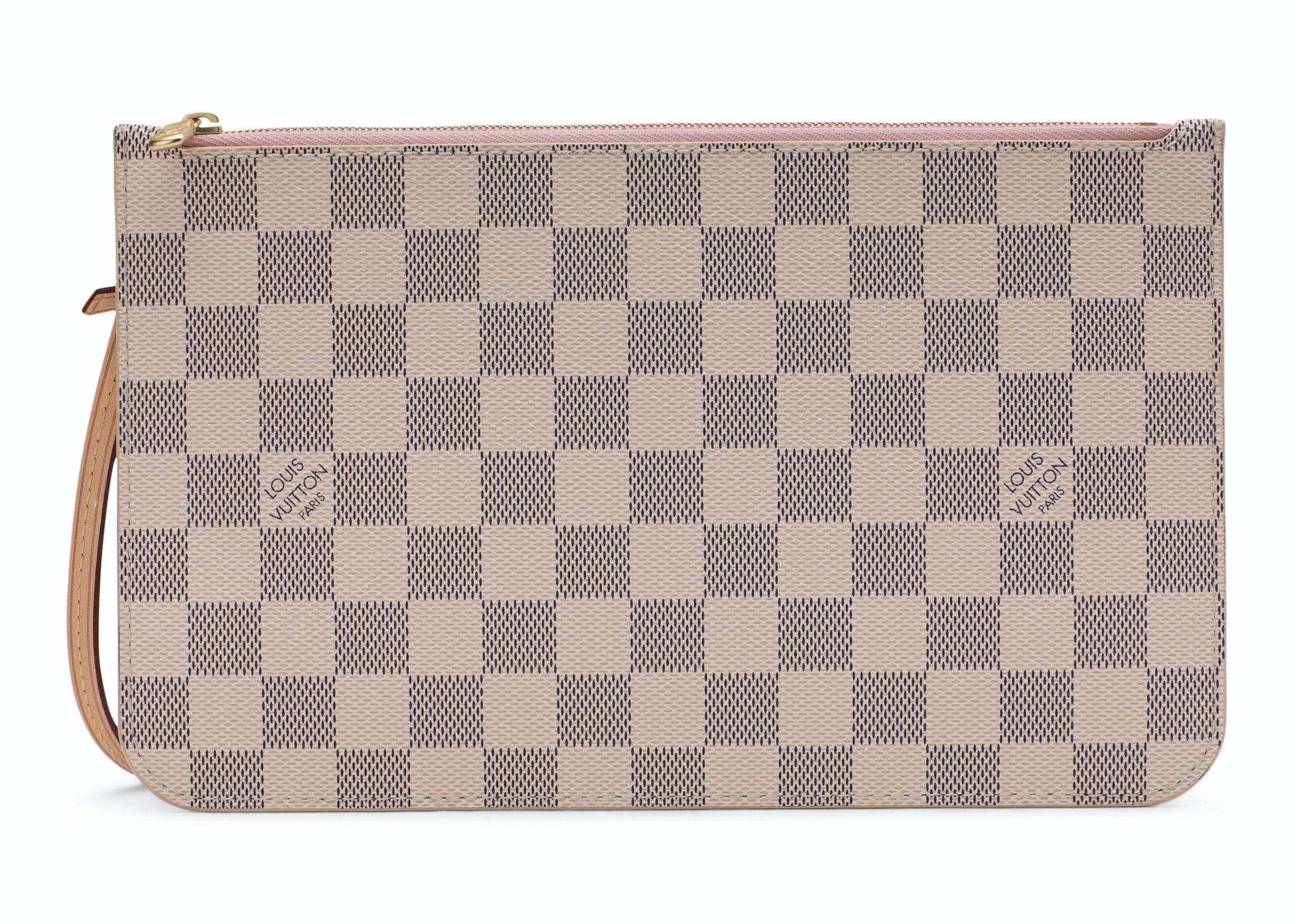 Louis Vuitton Neverfull Pochette Louis Vuitton Neverfull Pochette Damier Azur Ivory