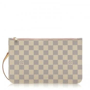 Louis Vuitton Neverfull Pochette Damier Azur Ivory