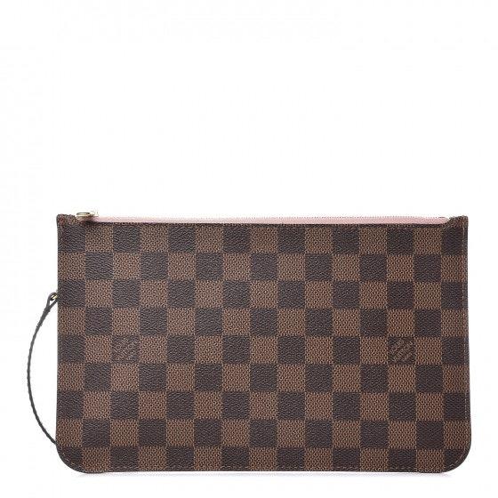 Louis Vuitton Pochette Neverfull Damier Ebene MM/GM Rose Ballerine