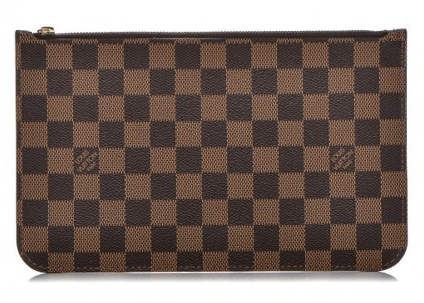 Louis Vuitton Neverfull Pochette Damier Ebene Brown