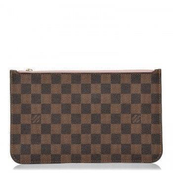 Louis Vuitton Neverfull Pochette Damier Ebene Brown
