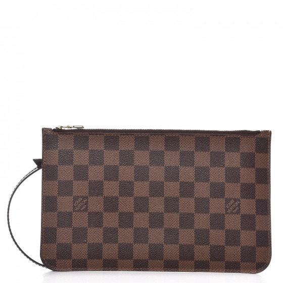 Louis Vuitton Pochette Neverfull Damier Ebene (With Strap) MM/GM Brown