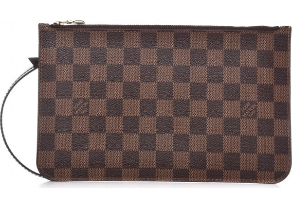 Louis Vuitton Pochette Neverfull Damier Ebene (With Strap) MM GM Cerise 3351105c48178