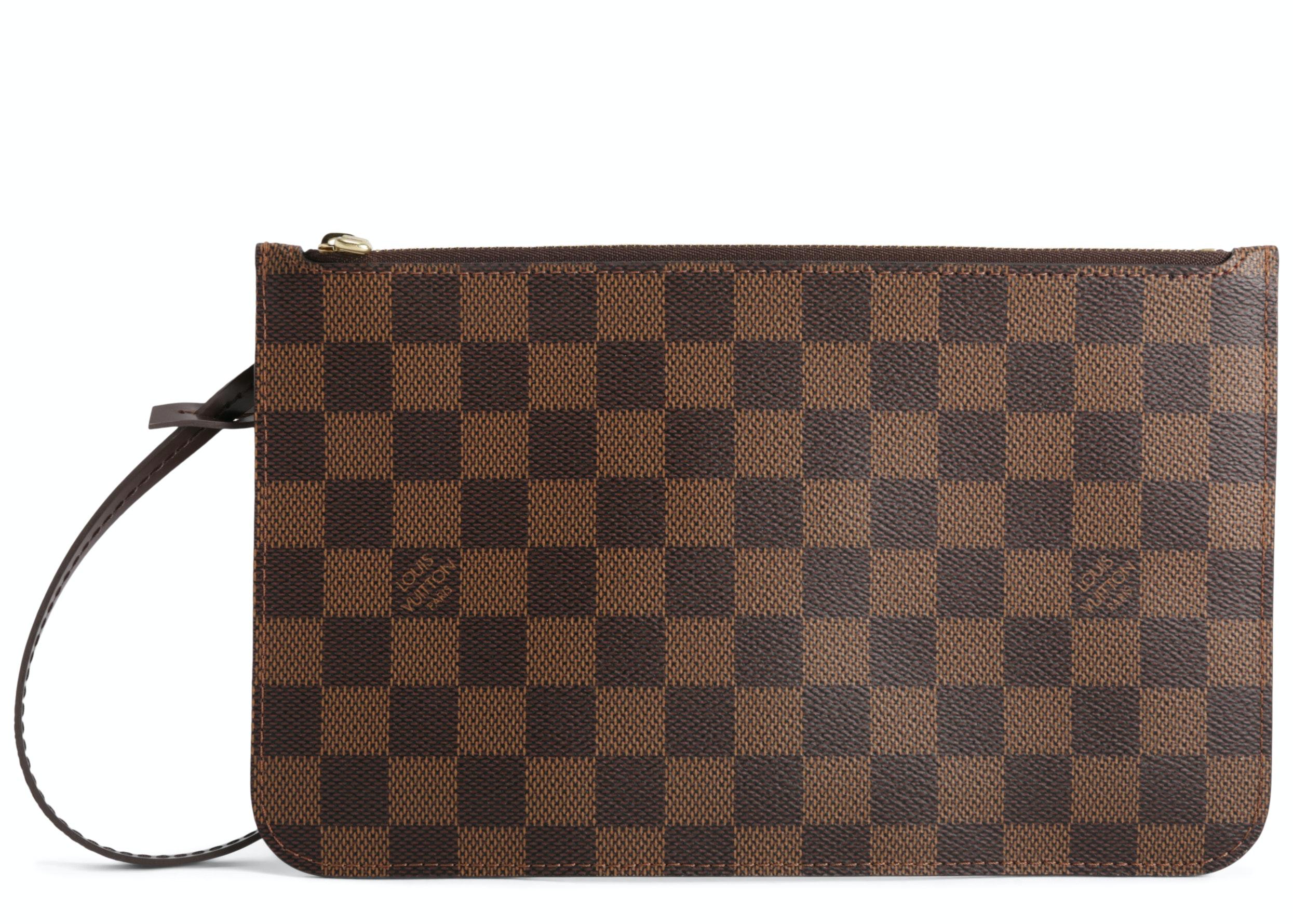 Louis Vuitton Pochette Neverfull Damier Ebene (With Strap) MM/GM Cerise