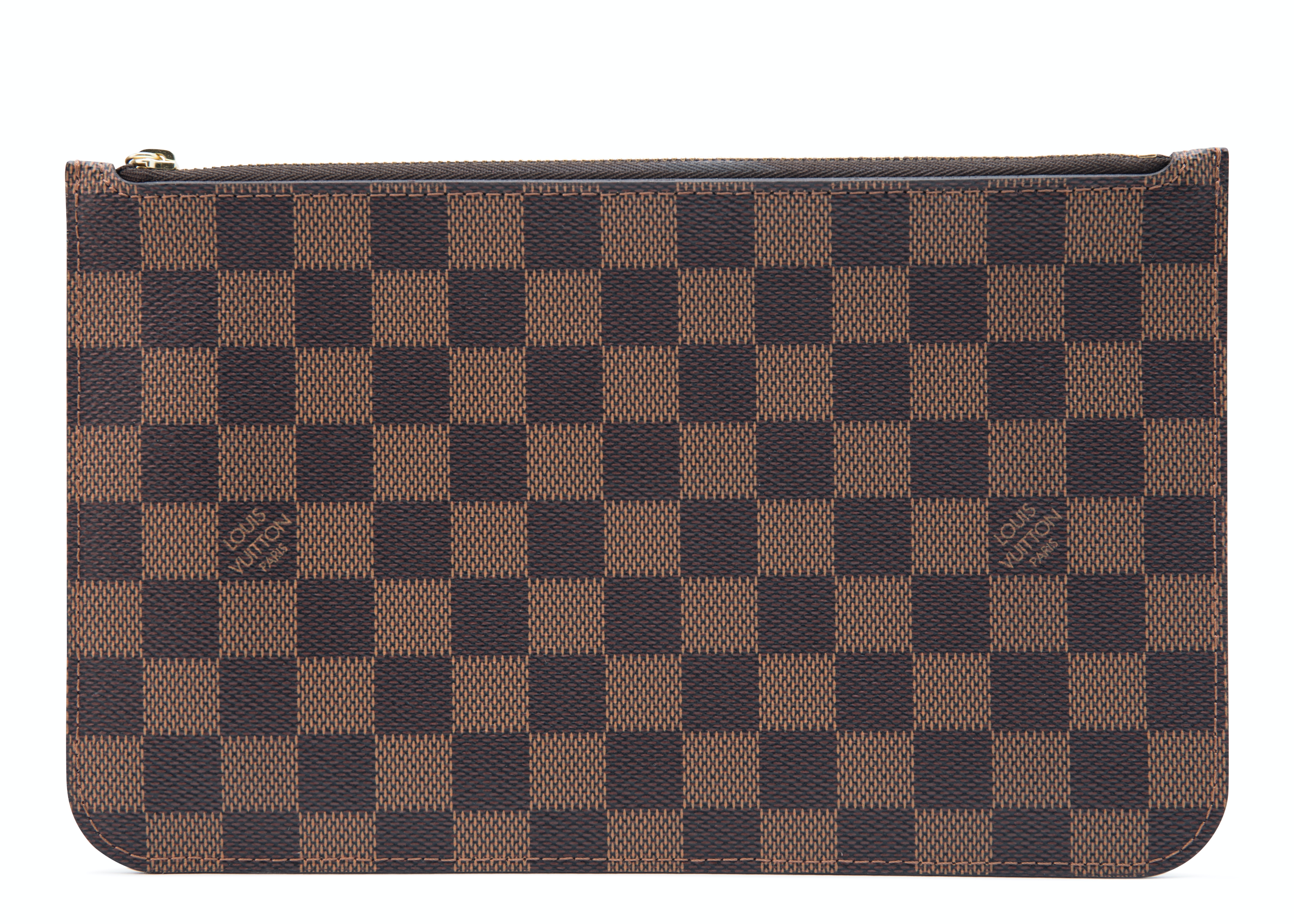 Louis Vuitton Neverfull Pochette Damier Ebene (Without Strap) Brown