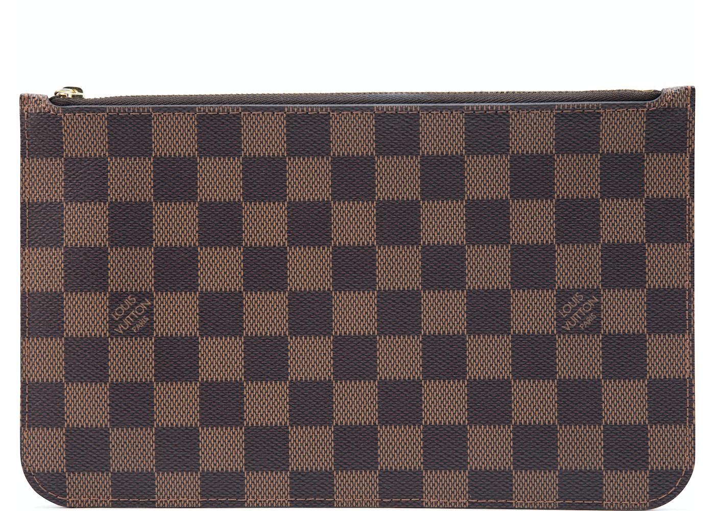 d4db6a1b2dfa Louis Vuitton Neverfull Pochette Damier Ebene (Without Strap) Brown