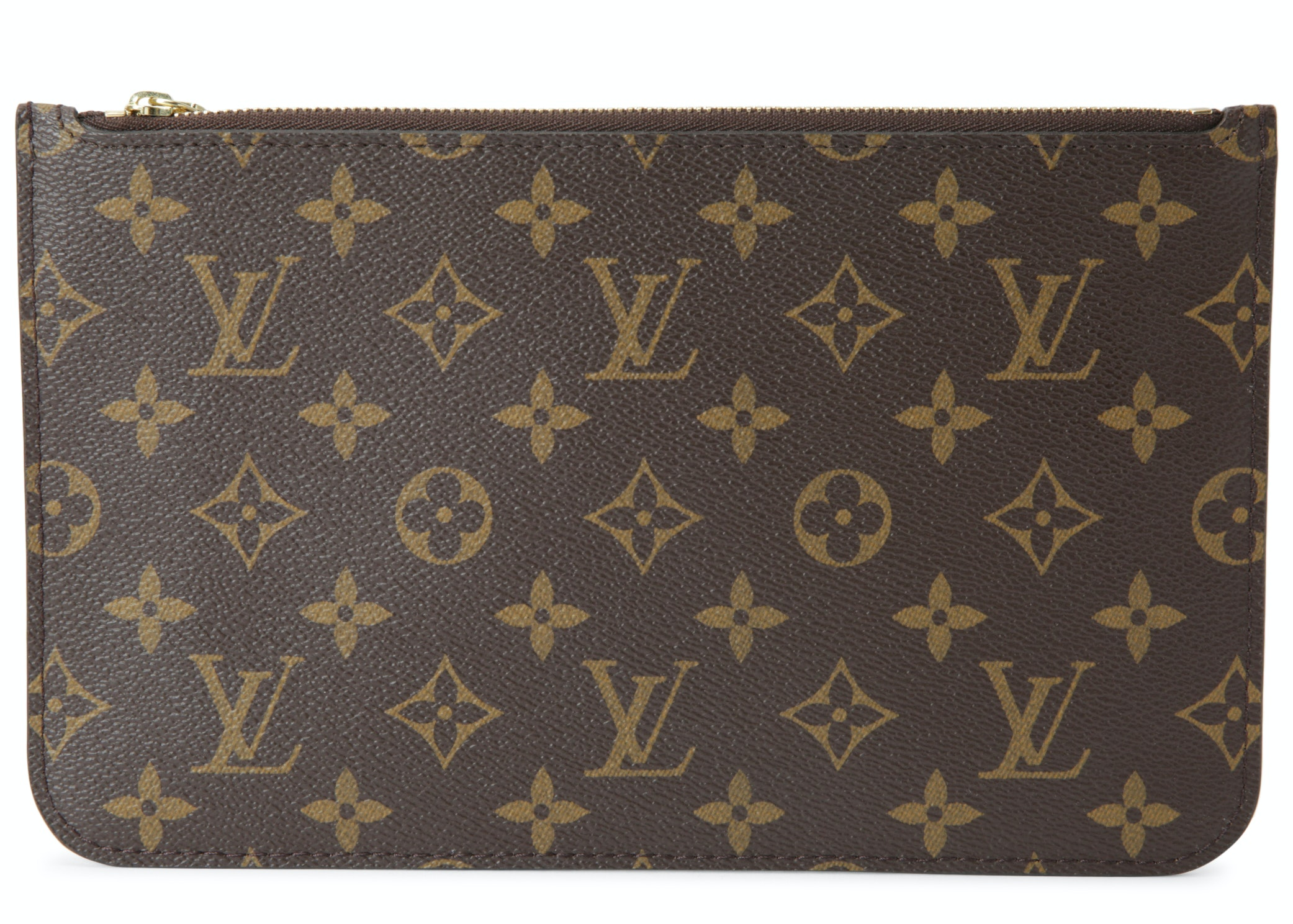 Louis Vuitton Pochette Neverfull Monogram MM GM Brown/Beige