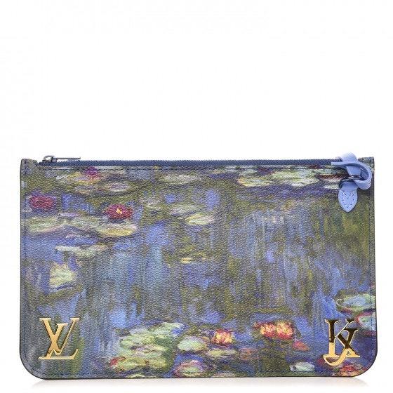 Louis Vuitton Pochette Neverfull Masters Jeff Koons Monet MM Blue