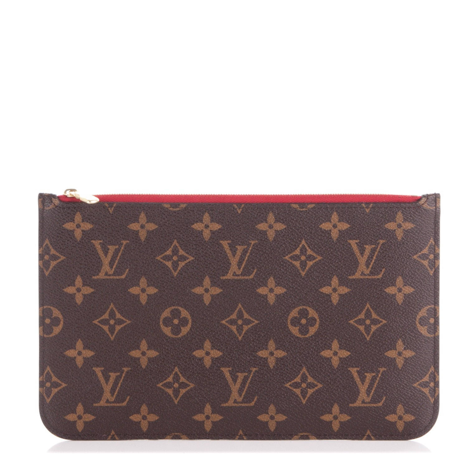 Louis Vuitton Neverfull Pochette Monogram Brown