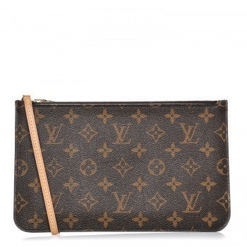 Louis Vuitton Neverfull Pochette MM Monogram Brown