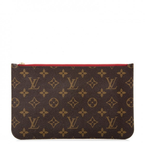 Louis Vuitton Pochette Neverfull Monogram (Without Strap) MM/GM Brown/Cerise