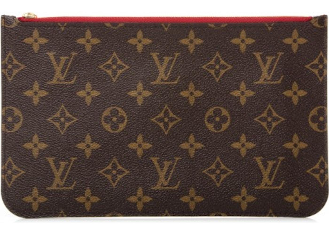 80cd4b17c0f Louis Vuitton Neverfull Pochette Monogram (Without Strap) MM/GM Cerise