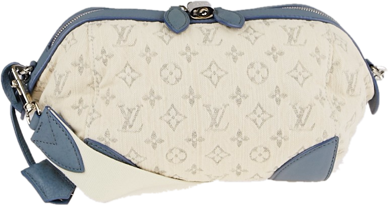 Louis Vuitton Round Pochette Monogram Bleu/Cream