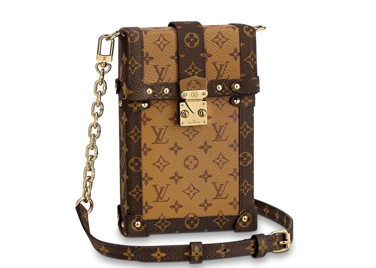 Louis Vuitton Pochette Trunk Verticale Monogram Reverse Brown