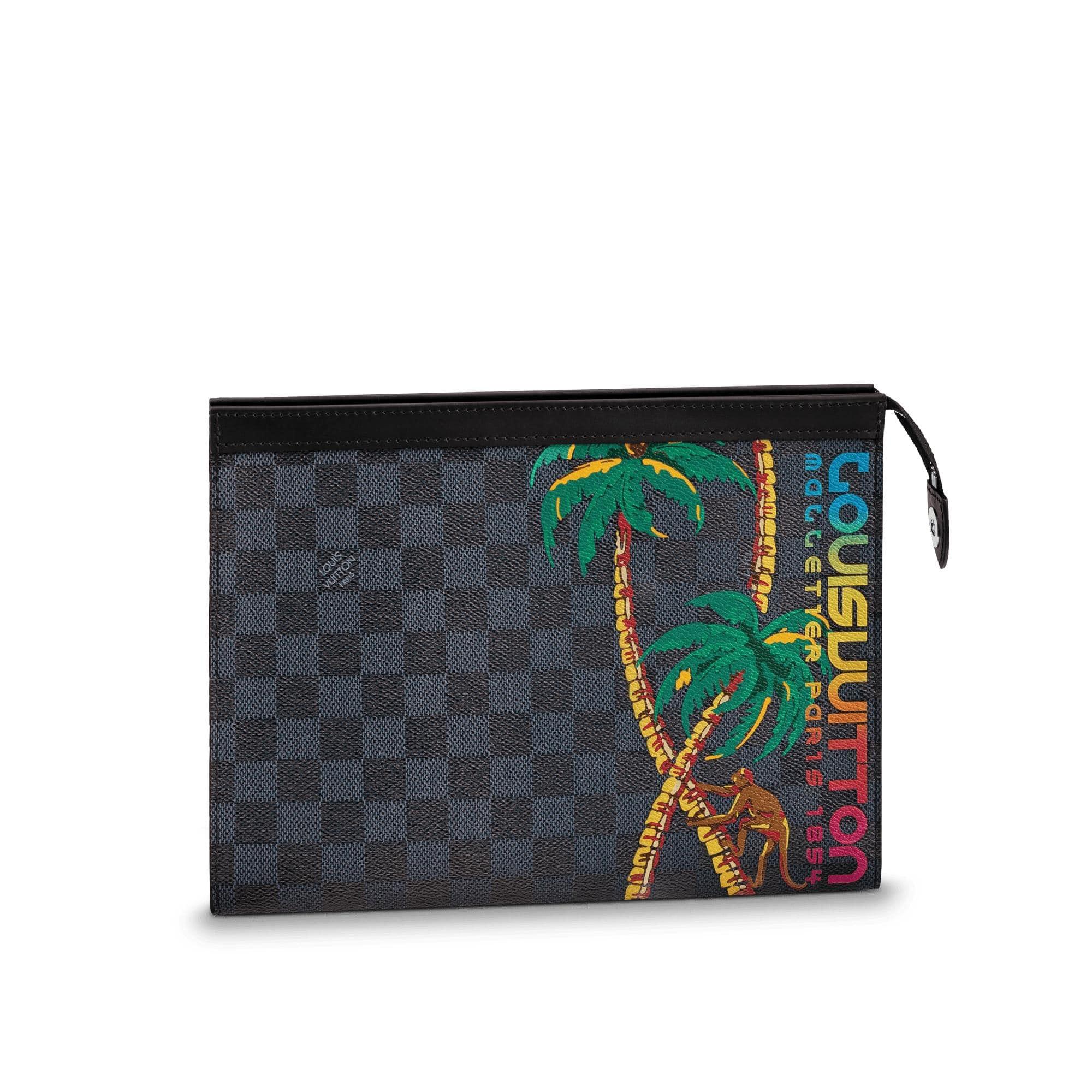 Louis Vuitton Pochette Voyage Damier Cobalt Jungle MM Black