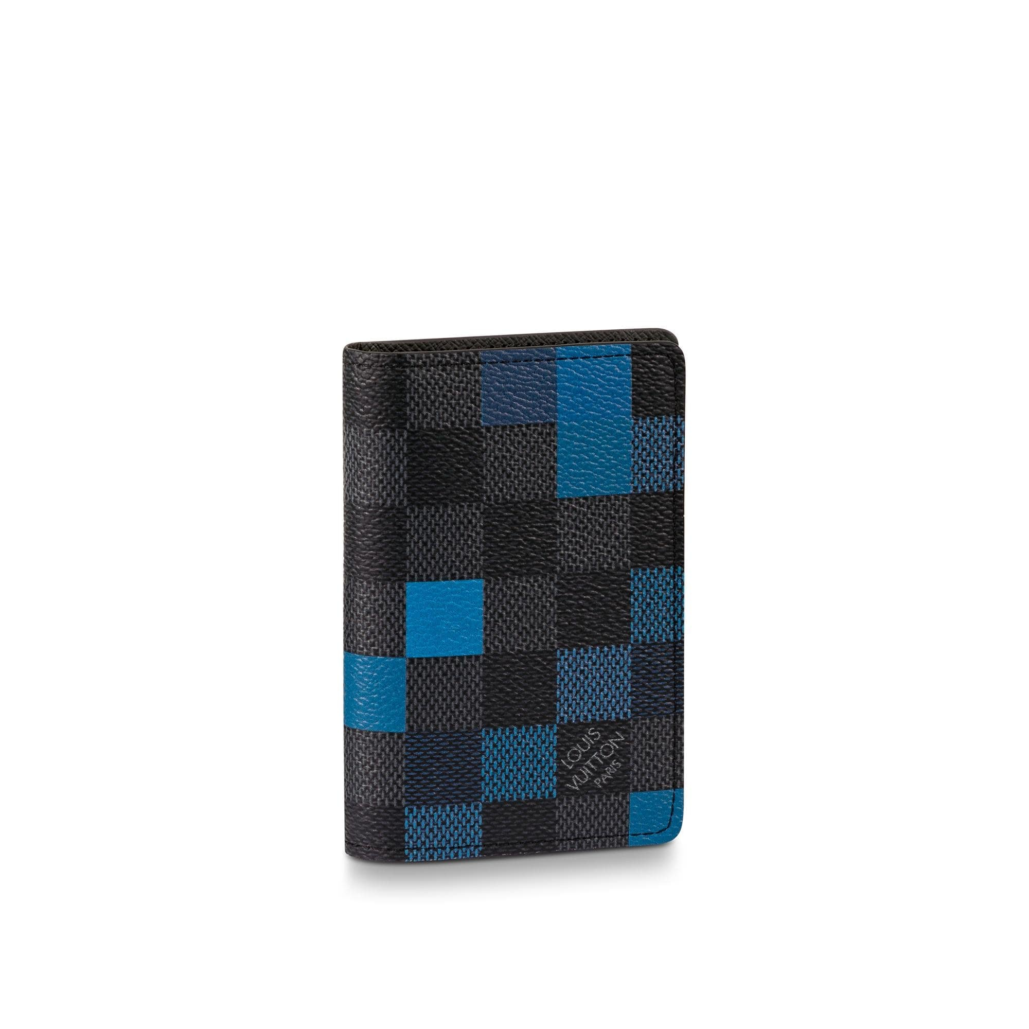 Louis Vuitton Pocket Organizer Damier Graphite Pixel Bleu