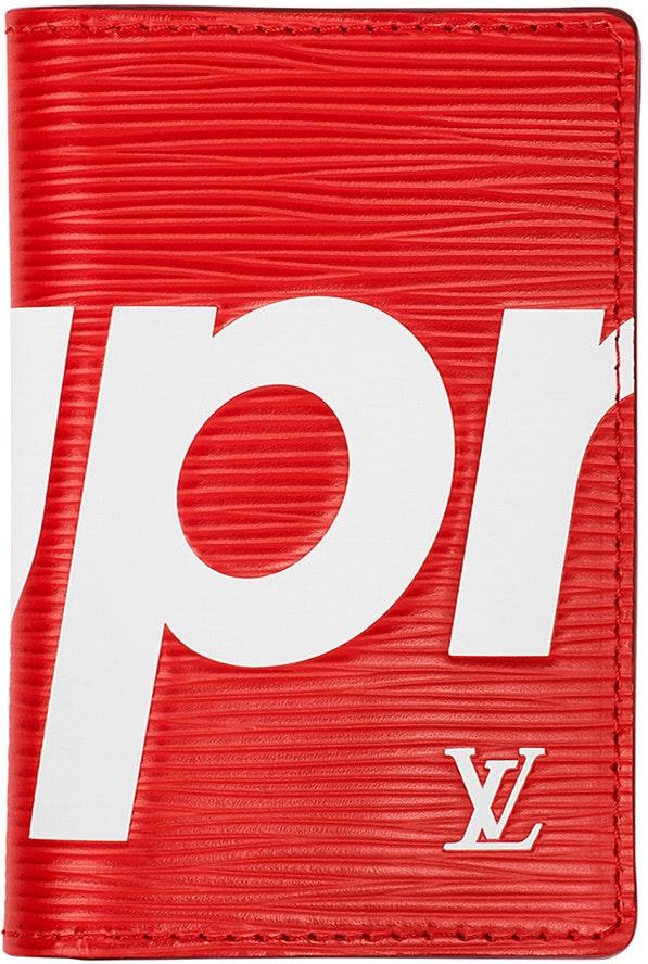 Louis Vuitton x Supreme Pocket Organizer Epi Red
