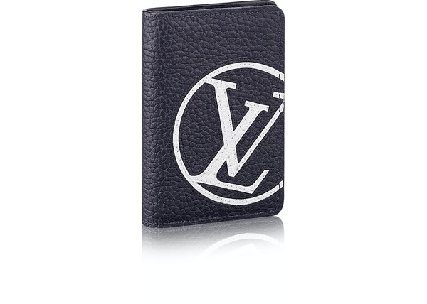 Louis Vuitton Pocket Organizer Lv Circle Taurillon Blue