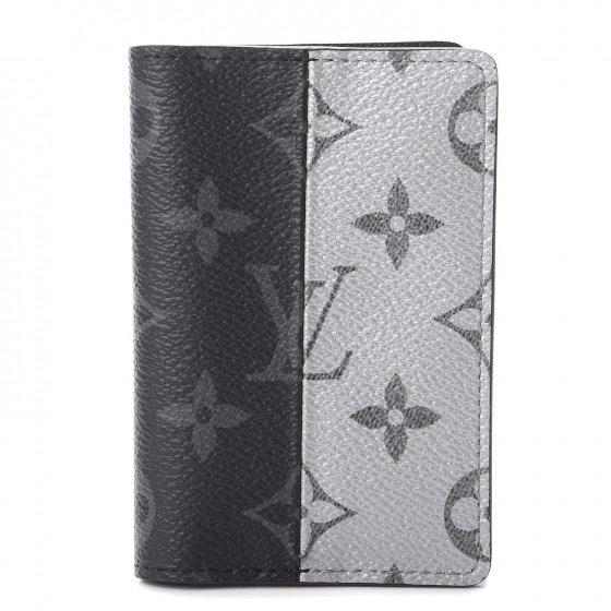 Louis Vuitton Pocket Organizer Monogram Eclipse Split Black/Gray