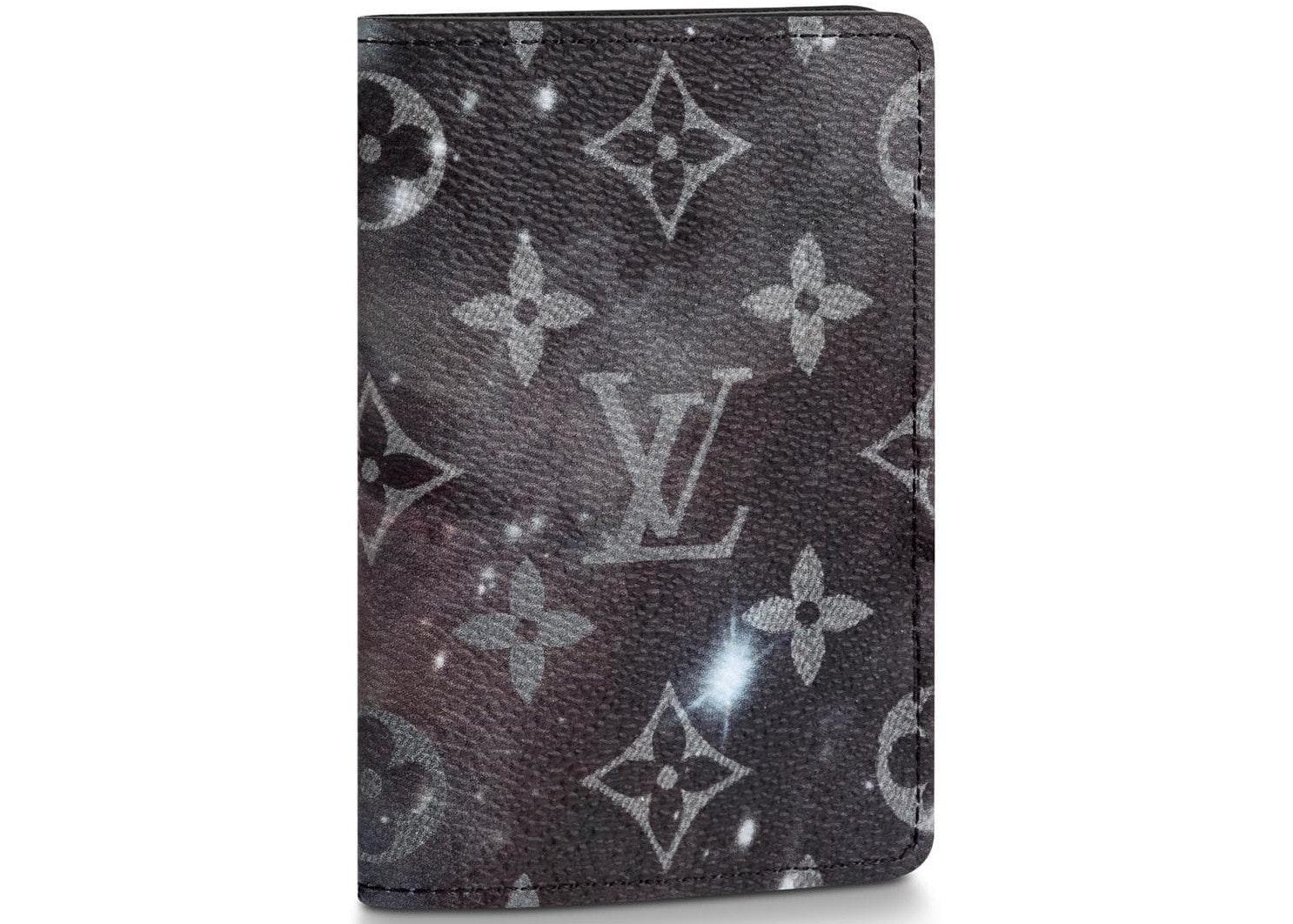 Louis Vuitton Pocket Organizer Monogram Galaxy Black Multicolor